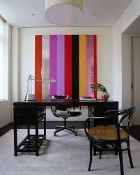 colorful office decor. Office:Alluring Wall Art Additions Brings Stripes Colorful To The Home Office Decor Alluring E