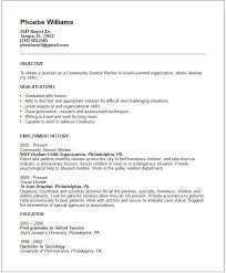 Social Work Resume Example Community Service Worker Resume Sample