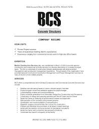 Example Good Resume Inspiration Construction Manager Resume Sample Of Good Resumes Construction