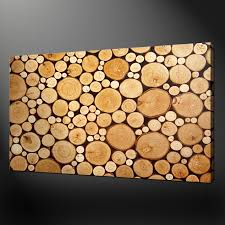the wood logs box canvas print picture modern wall art design free uk p p