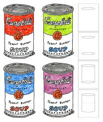 Small Picture Andy Warhol Soup Cans Warhol Art lessons and Pop art