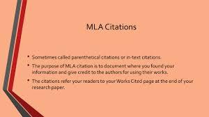 Mla Research Paper Internal Citations College Paper Academic