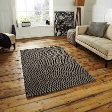 hand knotted striped oxford rug modern 100 wool