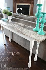 Sofa Table Diy Diy Salvage Sofa Table A Diamond In The Stuff Diy Furniture