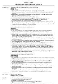 Transportation Operations Manager Resume Sample Transportation Operations Manager Resume Samples Velvet Jobs 2