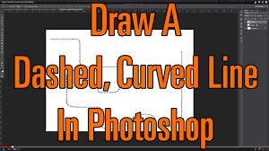 While photoshop doesn't offer a dashed line option, such as that found in illustrator's stroke palette, you can easily simulate them by editing a brush in the brushes palette. Draw A Dashed Curved Line In Photoshop Youtube