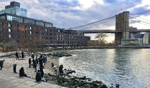 winter walk through brooklyn bridge park