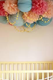pom pom cer with garland for above crib