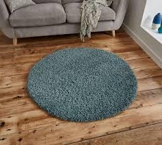 vista 2236 teal blue circular rug