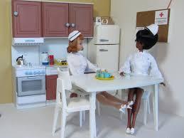 Wallpaper Room Table Cook Kitchen Vintage Uniform Doll