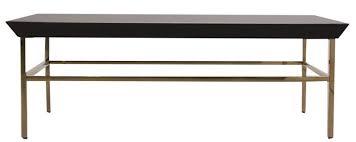 Table basse art déco bois noir et pieds acier doré Amadeo ...