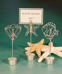 beach themed starfish and seashell placecard holders fish and beach Beach Themed Wedding Place Cards ocean themed place card holder favors beach themed place cards for wedding