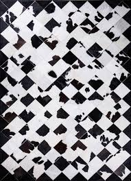 galloway cowhide rug by mosaic rugs luxury handcrafted black white patchwork cowhide rug