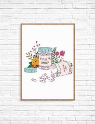 Allergic To Mornings Printable Wall Art Make And Tell
