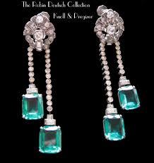 faux emerald drop earrings fashion