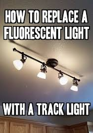 simple track lighting. How To Replace A Fluorescent Light With Track Light- Simple Tutorial: Lighting S
