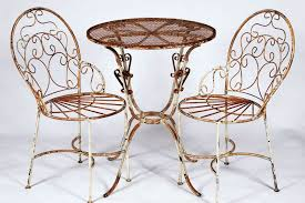 Modern Wrought Iron Patio Table Set With Wrought Iron Ice Cream