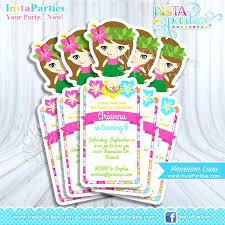 Hawaiian Theme Party Invitations Printable Luau Printable