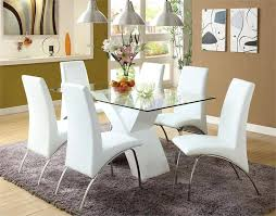chrome dining table and chairs rovigo large glass chrome dining room table and 4 chairs set