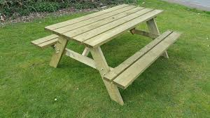 table bench. heavy value a frame rectangle picnic table bench lancelot model - view 3