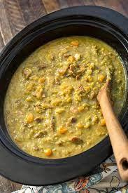 slow cooker split pea soup simply