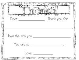 Blank Thank You Notes Thank You Note Fill In The Blank Perfect For K 1 Parents Volunteers Etc