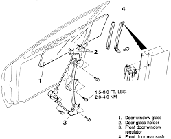 Mitsubishi eclipse drawing repair guides interior door glass and regulator mitsubishi eclipse