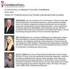 new employee announcement july employee announcement i2 construction llp i2 construction llp
