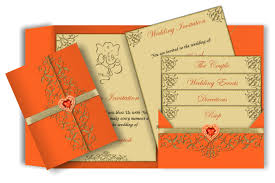 Chic Wedding Invitations Indian Style Pocket Style Email Indian