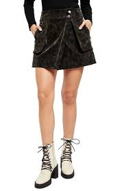 Free People Skirt Size Chart Womens Free People Carson Utility Faux Wrap Skirt Size 8 Black