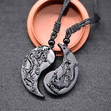 <b>Drop Shipping Obsidian</b> Carving Circle Pixiu Amulet <b>pendant</b> ...