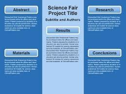 Template For Science Fair Project Science Fair Project Template Word Poster Templates Ideas