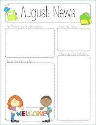 Monthly Newsletter Template For Teachers Free Printable Editable Newsletter Templates For Preschool Teachers