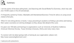 A Good Summary For A Resumes How To Write A Linkedin Summary