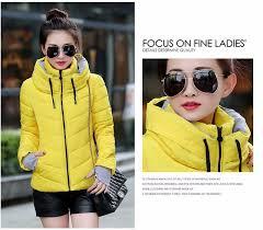 new women plus size long sleeve warm light down padded winter jacket women parkas for women