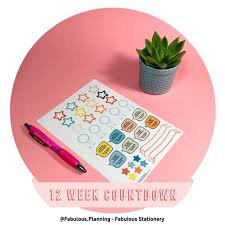 Slimming World Weight Watchers Calorie Counting Countdown 12 Wk Professionally Printed A5 Stationery With Free Gifts