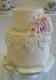 Pink Lilac Large 2 Tier Wedding Cake