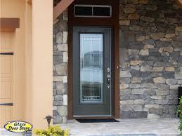 Great Modern Glass Exterior Doors with Saratoga Front Door Glass Insert In  Fiberglass Front Door