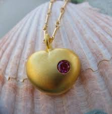 love actually heart necklace in gold plated