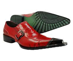 Aurelio Garcia Designer Shoes Details About Mens Fiesso Gold Red Leather Suede Pointed
