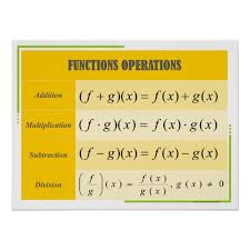 Math Operations Chart Functions Operations Math Poster Chart