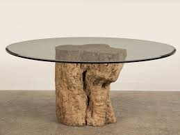 picture of tree stump coffee table glass