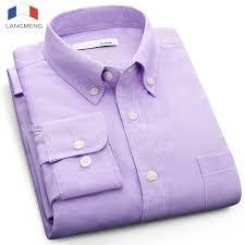 2019 <b>Langmeng Plus Size 5XL</b> Solid Color Social Dress Shirt Men ...