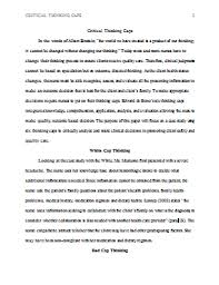example of critical thinking essays critical thinking paper sample custodial resume cover letter