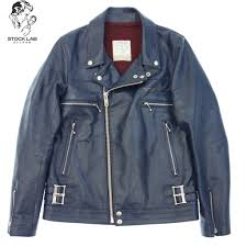 undercover under cover 17aw basic cow leather double riders jacket 2 uca4201 navy system