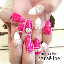 ふんわりピンクのサマーネイル Sarajoeサラアンドジョー