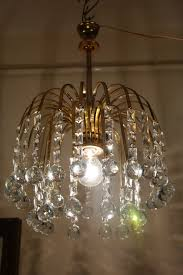 antique vintage waterfall style crystal chandelier lamp light 1960s 12 in 1 of 12 see more