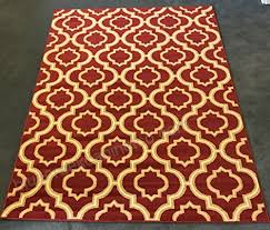 antep rugs kashan king collection trellis area rug maroon and cream 5 x 7