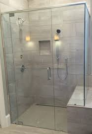 bathroom marvelous shower area with clear glass frameless