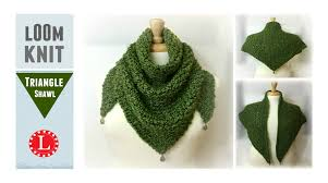 Loom Knitting Patterns Gorgeous LOOM KNIT Scarf On Round Loom Triangle Shawl Prayer Loomahat YouTube